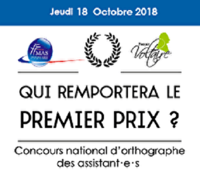 Concours national d'orthographe : 18 octobre 2018