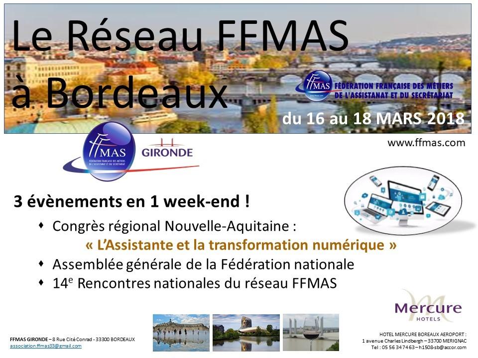 Tous à Bordeaux pour les rencontres nationales du réseau !