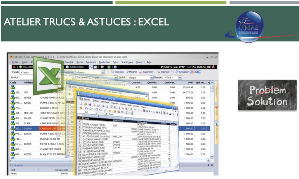 Excel : Les formules indispensables à connaître pour gérer et présenter vos tableaux de bord le 12/10/19