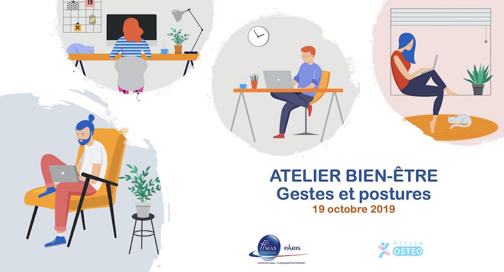 Atelier bien-être : gestes et postures au bureau ou à domicile le 19/10/2019