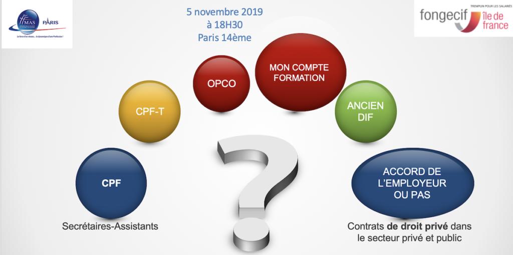 Rencontre avec le Fongecif Ile-de-France                                           le 05/11/2019 – Paris 14ème