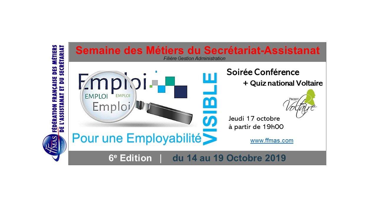 """Soirée spéciale """"Quiz national Projet Voltaire & conférence sur l'employabilité"""" le 17/10/19 à Paris 14ème"""