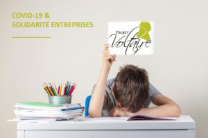 Projet Voltaire Orthographe offert à toutes les entreprises pour les enfants des salariés