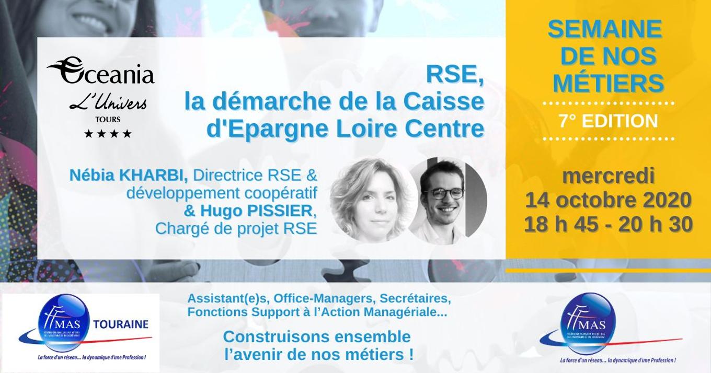 RSE, la démarche de la Caisse d'Epargne Loire Centre   mercredi 14 octobre 2020