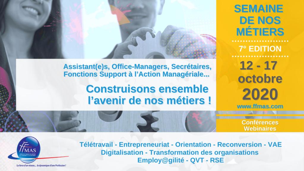 7ème éditions de la semaine des métiers 2020 avec la FFMAS Alsace … Retour sur notre soirée du mardi 13 octobre.