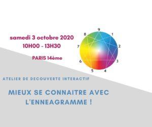 Mieux se connaître avec l'Ennéagramme ! le 03/10/2020