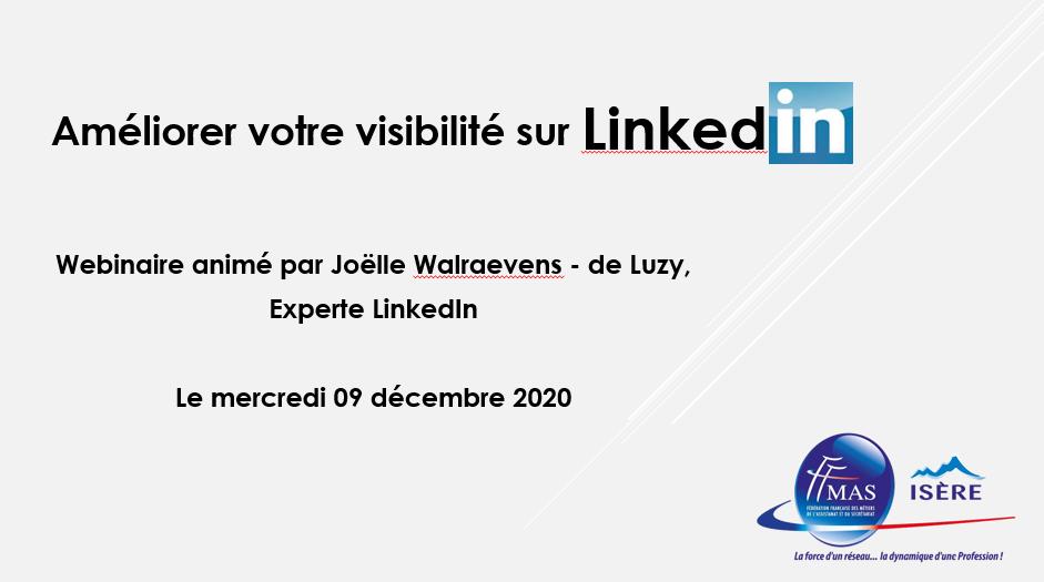 Webinaire – Améliorer votre visibilité sur LinkedIn !