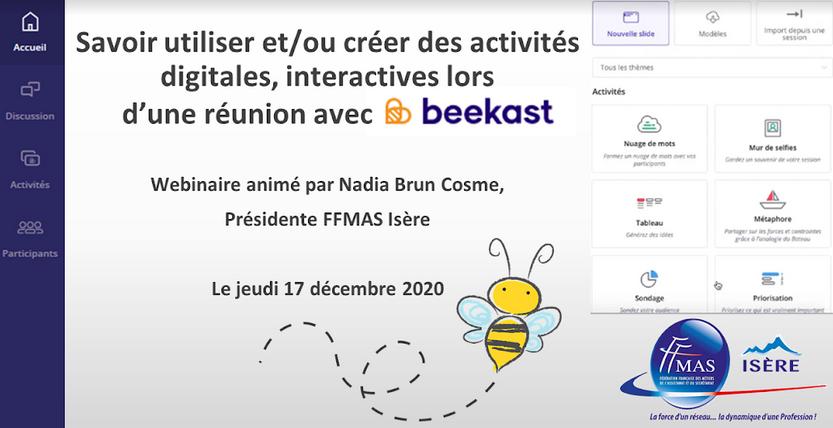 Webinaire – Savoir utiliser et/ou créer des activités digitales, interactives avec Beekast