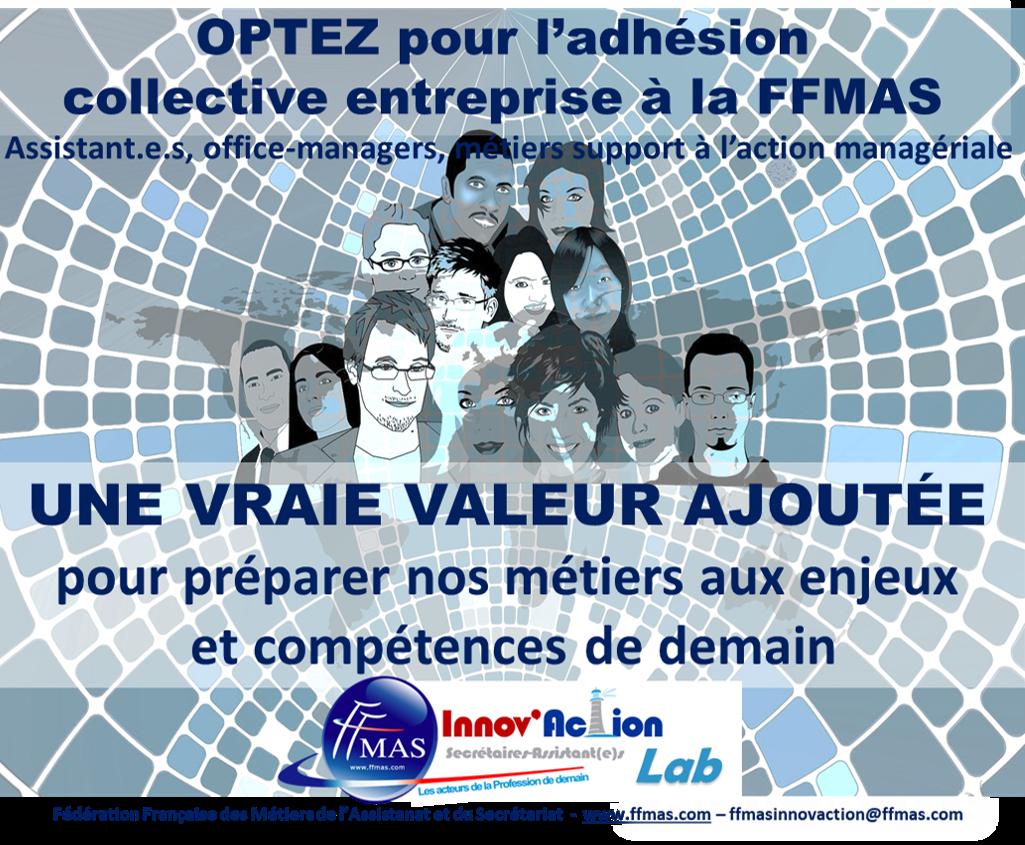 Adhésion corporate entreprise FFMAS : une vraie valeur ajoutée pour préparer les assistant.e.s aux enjeux et compétences de demain !