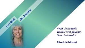 Le billet de Josette | Hic et nunc*