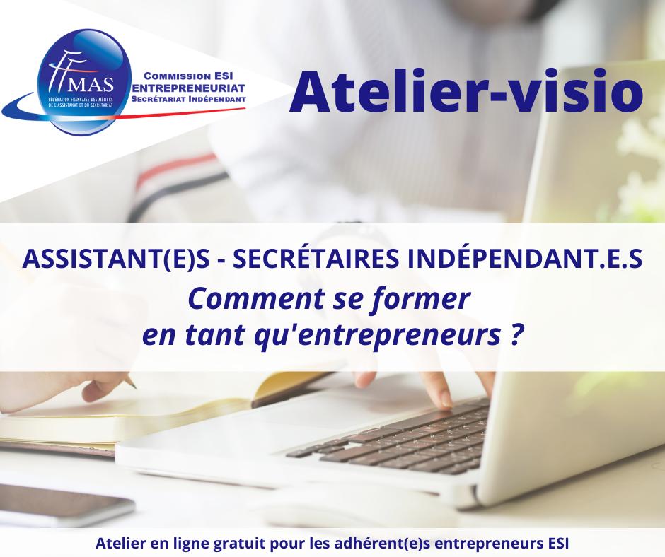 Atelier-visio  | Comment se former en tant qu'entrepreneur ?